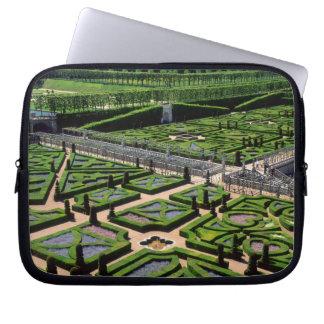Garden at Villandry Chateau, Indre-et-Loire, Laptop Sleeves
