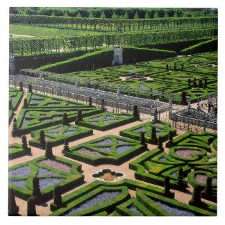Garden at Villandry Chateau, Indre-et-Loire, Large Square Tile