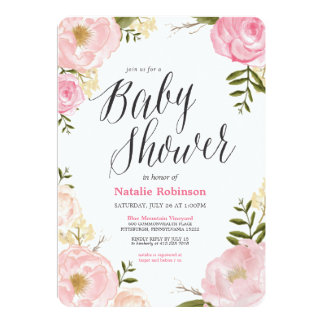 Garden Baby Shower Invitation