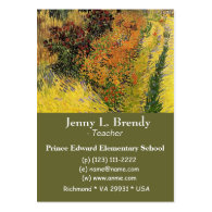 Garden Behind a House by Van Gogh Business Card