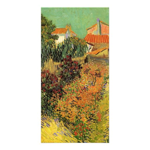 Garden Behind a House by Vincent van Gogh Photo Card