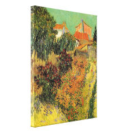 Garden behind a House. Stretched Canvas Print