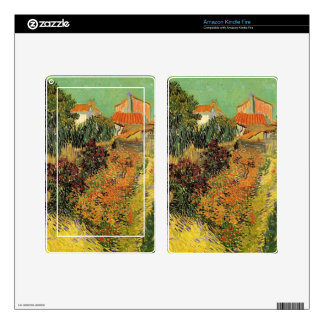 Garden behind a House. Vincent van Gogh. Kindle Fire Decal