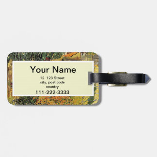 Garden behind a House.  Vincent van Gogh. Luggage Tag