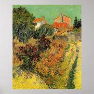 Garden behind a House.  Vincent van Gogh. Print