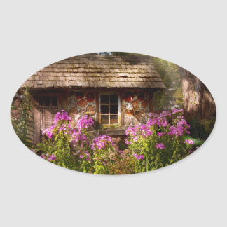 Garden - Belvidere, NJ - My little cottage Oval Sticker
