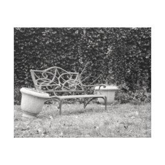 Garden Bench in Tennessee Canvas Print