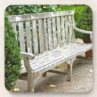 Garden Bench Plastic Coasters (set of 6)