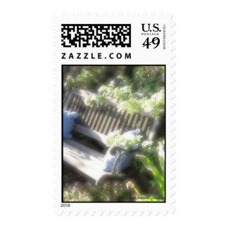 Garden Bench Poscard Postage
