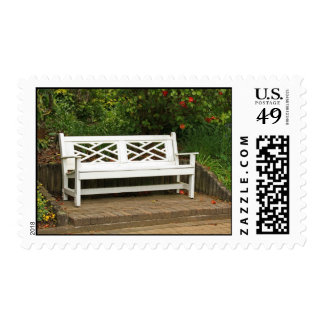 Garden bench postage