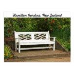 Garden bench postcard