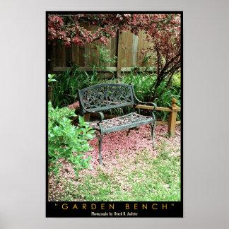 Garden Bench Print
