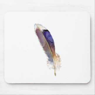 Garden Bird Feather Watercolor Mouse Pad