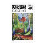 Garden Birdhouse Stamp