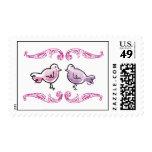 """""""Garden Birds"""" Shower Invitation Postage Stamp"""