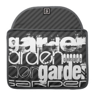 Garden; Black & Dark Gray Stripes MacBook Pro Sleeve