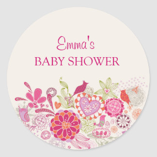 Garden Bloom Bird | Baby Shower Sticker