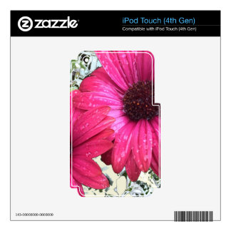 Garden Blooms - Pink Decals For iPod Touch 4G