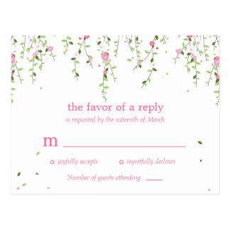 Garden Blooms Wedding RSVP Postcard Postcard