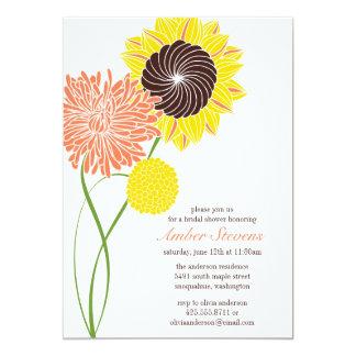 "Garden Blossoms Shower/Party Invitation 5"" X 7"" Invitation Card"