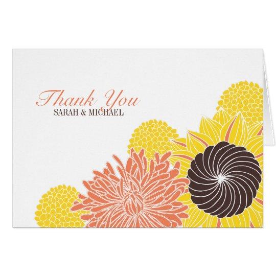 Garden Blossoms Thank You Card