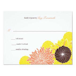 Garden Blossoms Wedding Response 4.25x5.5 Paper Invitation Card