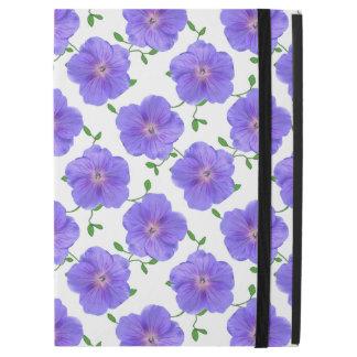 "Garden Blue Geranium Flower on any Color iPad Pro 12.9"" Case"