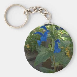 Garden Blue Salvia Sage Key Chains