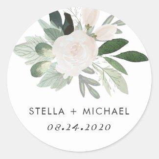 Garden Blush Round Sticker