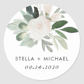 Garden Blush Round Sticker
