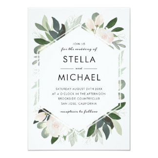 Garden Blush Wedding Invite