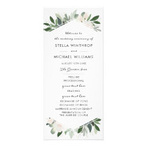 Garden Blush Wedding Program