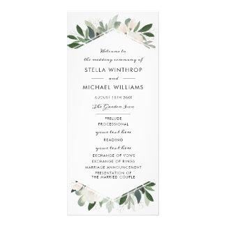 Garden Blush Wedding Program