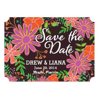 garden botanical flowers card
