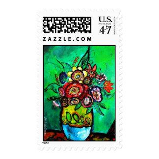 Garden Bouquet  Jolie Frank Floral Art Stamp