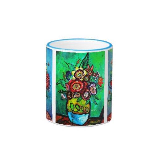 Garden Bouquet Trio by Jolie Frank Ringer Coffee Mug