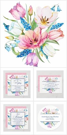 Garden Bouquet Wedding Set