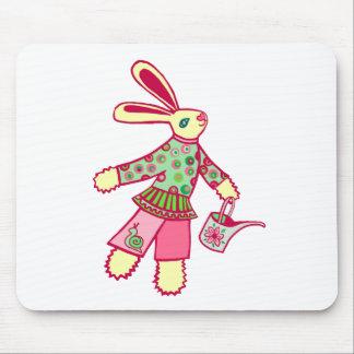 Garden Bunny Mouse Pad