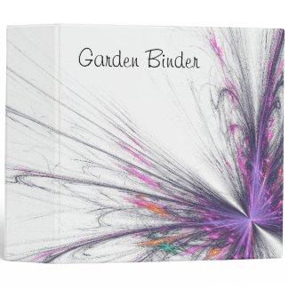 Garden Butterfly Fractal Personal Binder