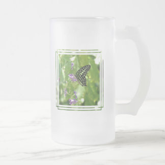 Garden Butterfly Frosted Beer Mug