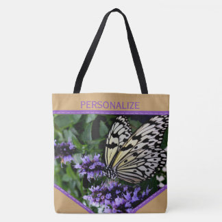 Garden Butterfly Personalized Nature Lover Tote Bag