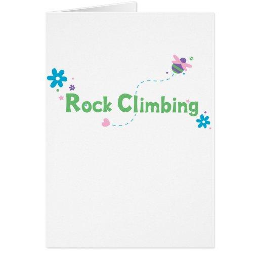 Garden Buzz Rock Climbing Greeting Card