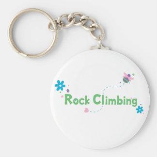 Garden Buzz Rock Climbing Basic Round Button Keychain