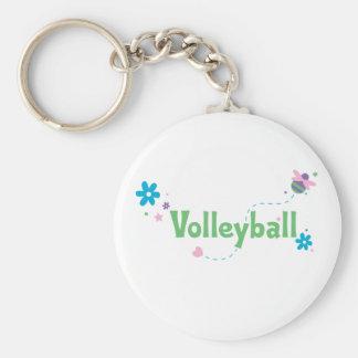 Garden Buzz Volleyball Basic Round Button Keychain