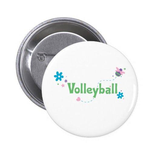 Garden Buzz Volleyball Pinback Button