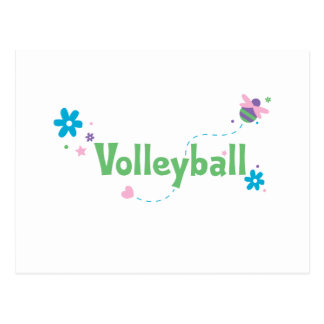Garden Buzz Volleyball Postcard