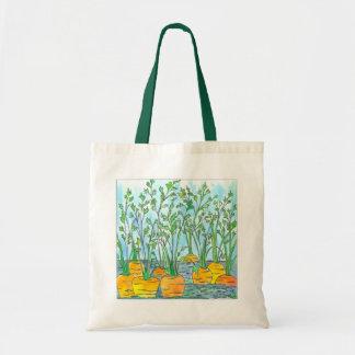 Garden Carrots Watercolor Painting Tote Bag