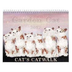 Garden Cat 2017 Calendar at Zazzle