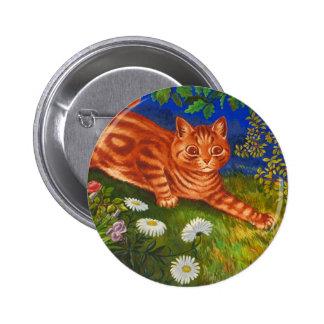 Garden Cat Artwork by Louis Wain Pins