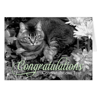 Garden Cat Blank Congratulations Card